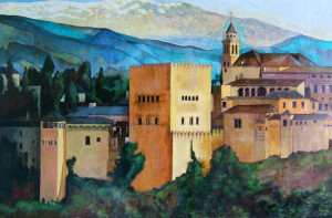 Painting of the Alhambra