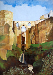 Ronda oil on canvas by Alexander Blackie